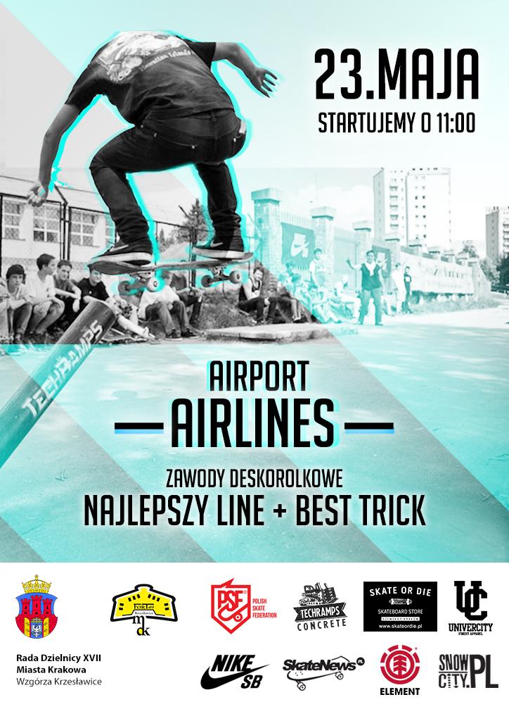 """Zawody """"Airlines"""" plakat"""
